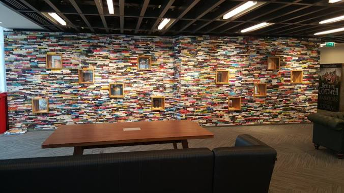 Wall made from books!